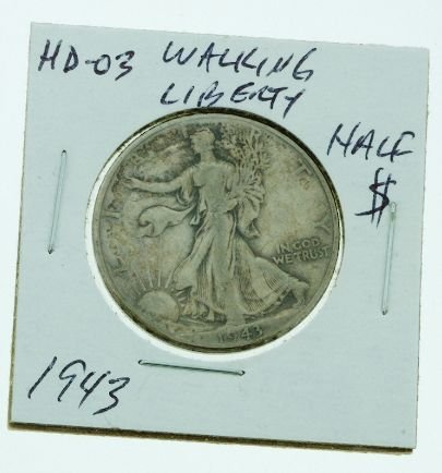 15: 1943 Walking Liberty Half Dollar HD03