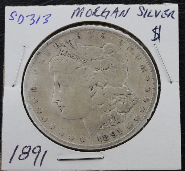 17: 1891 Morgan Silver Dollar SD313