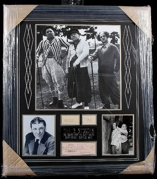 18: The Three Stooges Autographed Check Display