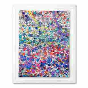 """Wyland, """"Abstract 28"""" Framed Original Watercolor"""