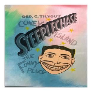"Steve Kaufman (1960-2010), ""Steepechase, Coney Island"""
