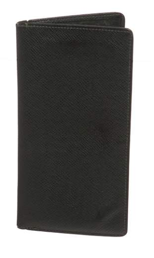 Louis Vuitton Green Taiga Leather Long Bifold Wallet