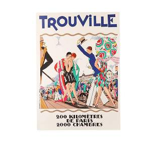Vintage Trouville Limited Edition Lithograph