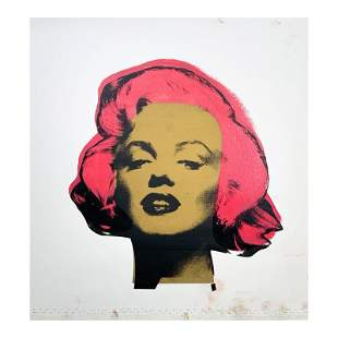 "Steve Kaufman (1960-2010), ""Marilyn Monroe"" Hand Signed"