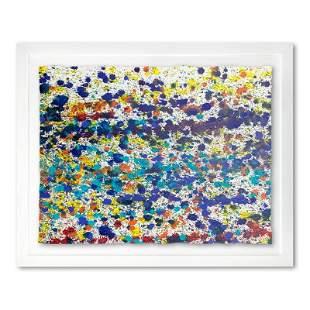 """Wyland, """"Speckled Sky 9"""" Framed Original Watercolor"""