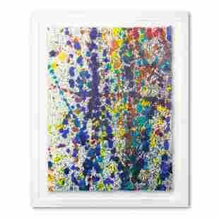 """Wyland, """"Speckled Sky 12"""" Framed Original Watercolor"""