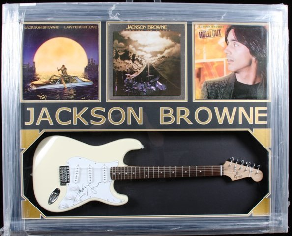 7: Jackson Browne Autographed Guitar Collage