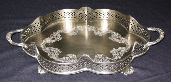 10A: Antique Style Silver Scallop Tray