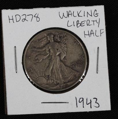 1: 1943 Walking Liberty Half Dollar HD278