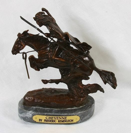 2: Frederic Remington Bronze Statue Reproduction - Chey