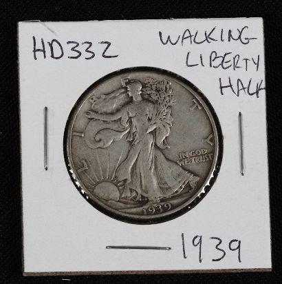 4: 1939 Walking Liberty Half Dollar HD332