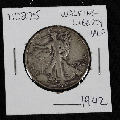 6: 1942 Walking Liberty Half Dollar HD275