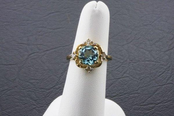 8: Ladies Blue Topaz Diamond Ring 2.03ctw - DI67