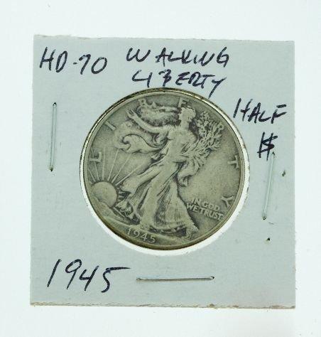 14: 1945 Walking Liberty Half Dollar HD70