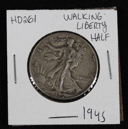 16: 1945 Walking Liberty Half Dollar HD261
