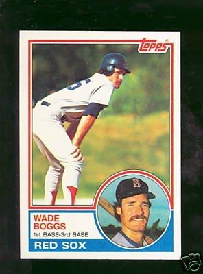 17: Wade Boggs 1983 Rookie Baseball Card