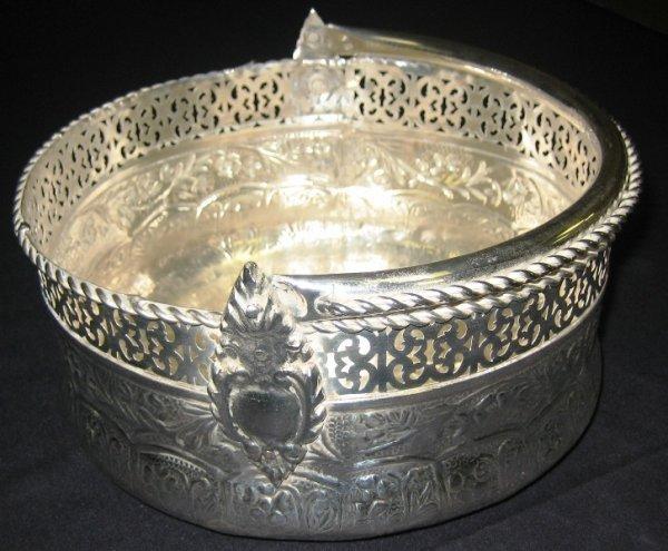 5A: Antique Style Silver Basket