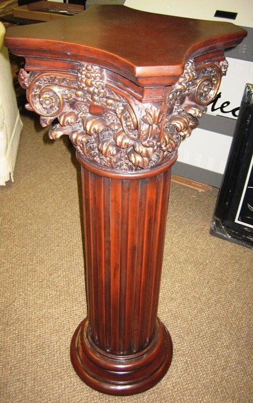 10A: Antique Style Tall Cherry Wood Pedestal