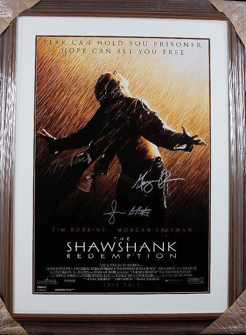 146: The Shawshank Redemption Autographed Movie Poster
