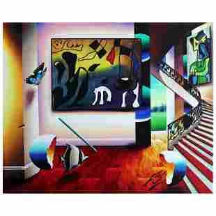 "Ferjo, ""Miro's Wonder"" Original Painting on Canvas,"