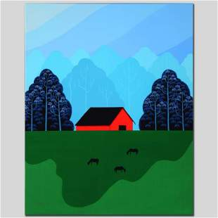"""New England Barn"" Limited Edition Giclee on Canvas by"