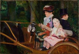 Cassatt - A Woman and a Girl Driving