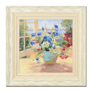 "S. Burkett Kaiser, ""Daisies & Pansies"" Framed Limited"