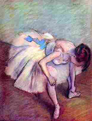 Edgar Degas - Dancer Bent Over
