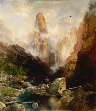 Thomas Moran - Mist in Kanab Canyon