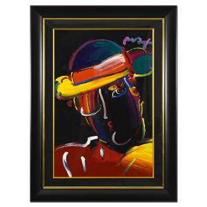 "Peter Max, ""Zero Spectrum"" Framed One-Of-A-Kind Acrylic"