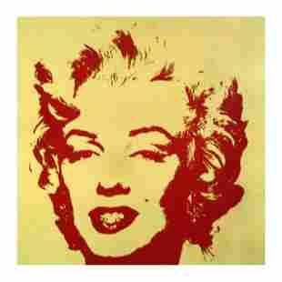 "Andy Warhol ""Golden Marilyn 11.40"" Limited Edition Silk"