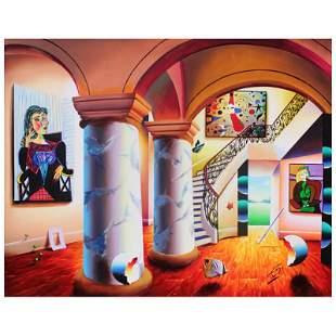 "Ferjo, ""Majestic Splendor"" Original Painting on Canvas,"