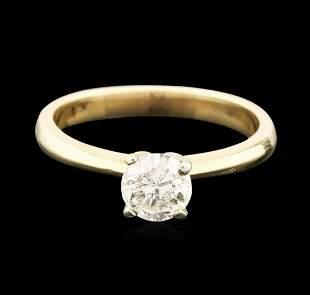 14KT Yellow Gold 0.83 ctw Round Brilliant Cut Diamond
