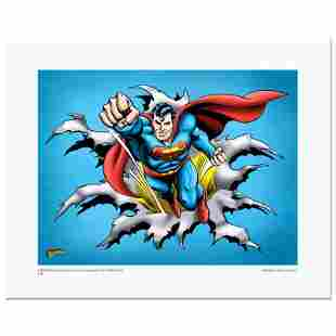 """Superman Fist Forward"" Numbered Limited Edition Giclee"