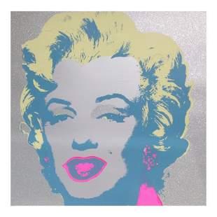 """Andy Warhol """"Diamond Dust Marilyn"""" Limited Edition Silk"""