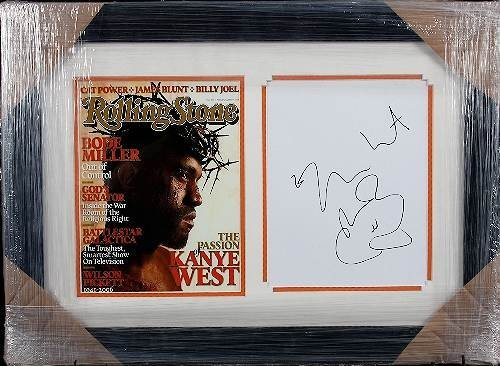 337: Kanye West Autographed Rolling Stone Collage
