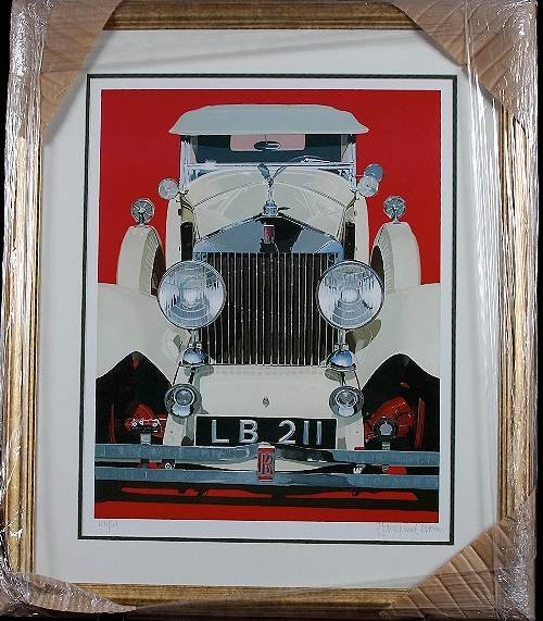 1: Cleworth - 1929 Rolls Royce Framed Lithograph