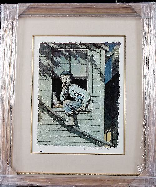 15: Norman Rockwell - Sneaking Out Autographed