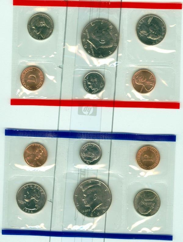 20: 1994 U.S. Mint Uncirculated Set CS52