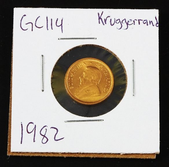 13: 1982 Krugerrand Gold Coin GC114