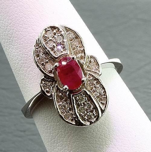 2: Ruby / Diamond Ring .67ctw - RR1