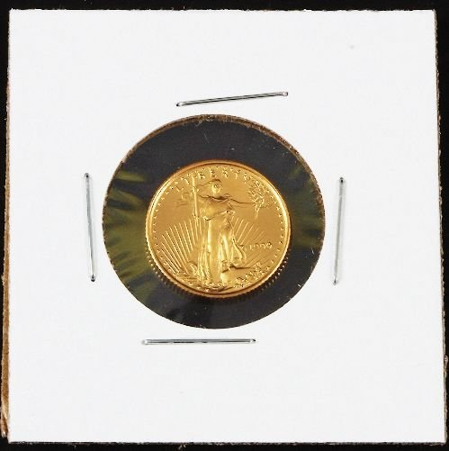 18: 1999 Gold Eagle $5 Gold 1/10 Coin GC201