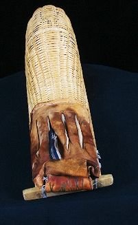 1: African Wooden Spear Holder- GG