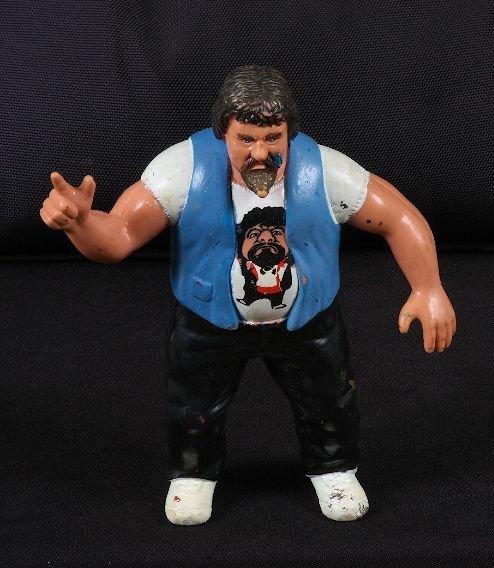 """3: Vintage 1980's Capt. Lou Albano 7"""" Wrestling Figurin"""