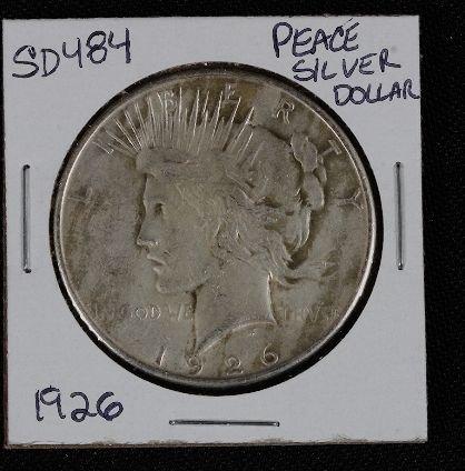 8: 1926 Peace Silver Dollar SD484