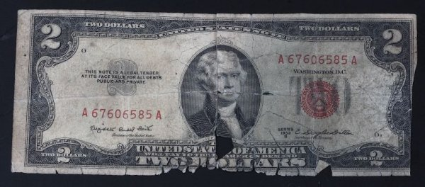 12: 1953 $2.00 Federal Reserve Red Seal Note PM139