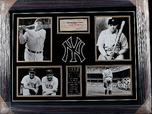25: Babe Ruth Autographed Check Horz. Display