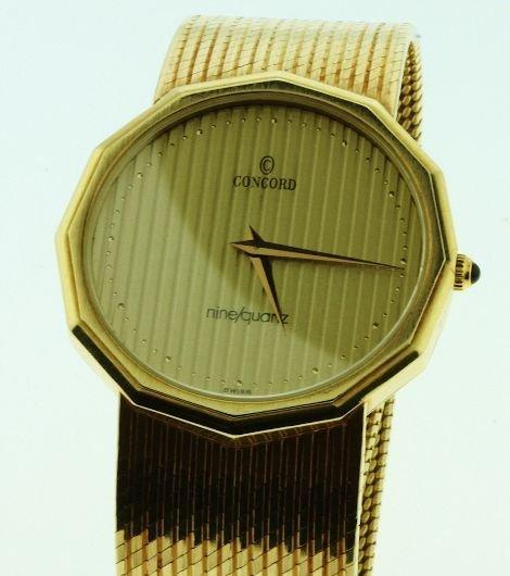 160: Men's Concord Watch 14kt Nine Quartz 69.03gm - W8 - 2