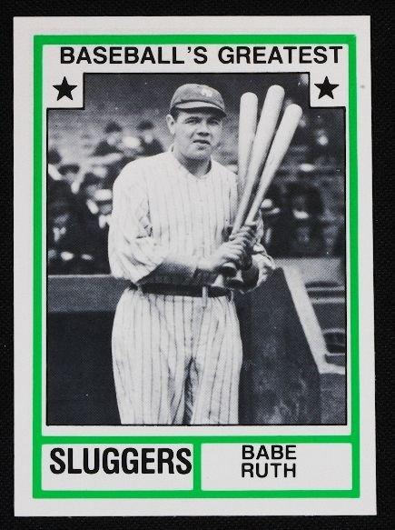 2: Vintage Baseball Card '83 TCMA Babe Ruth C127