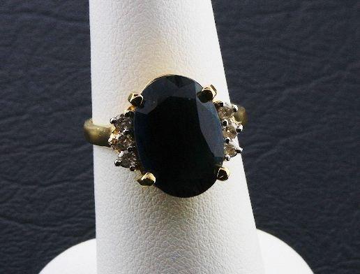 11: Ladies' Blue Sapphire Diamond Ring 6.55ctw DG84A